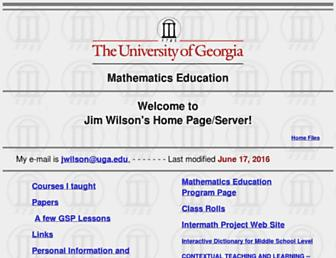 jwilson.coe.uga.edu screenshot