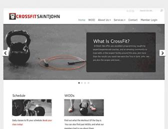 Main page screenshot of crossfitsaintjohn.ca