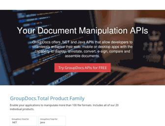 products.groupdocs.com screenshot