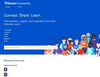 community.atlassian.com screenshot