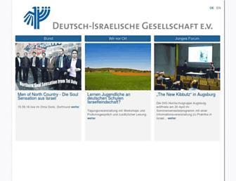 Main page screenshot of deutsch-israelische-gesellschaft.de