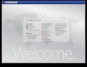 lowrance.com screenshot
