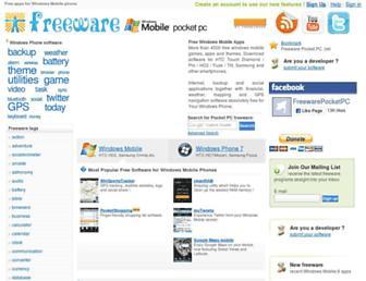 Main page screenshot of freewarepocketpc.net