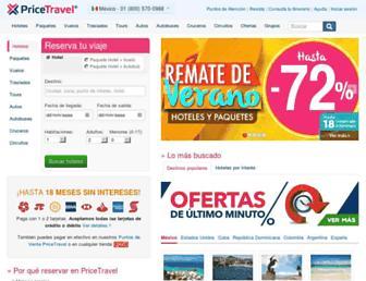 Thumbshot of Pricetravel.com.mx