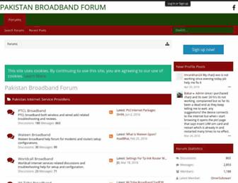 pakistanbroadband.com screenshot