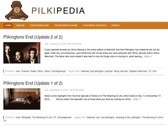 Main page screenshot of pilkipedia.co.uk