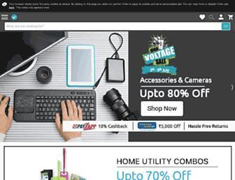 m.shopclues.com screenshot