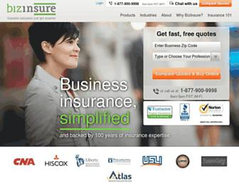bizinsure.com screenshot