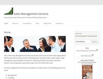 salesmanagementservices.com screenshot