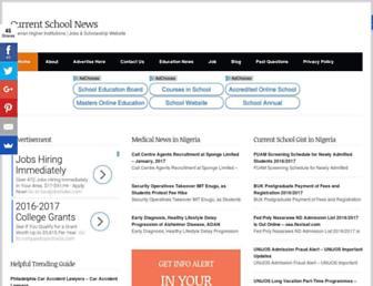 currentschoolnews.com screenshot