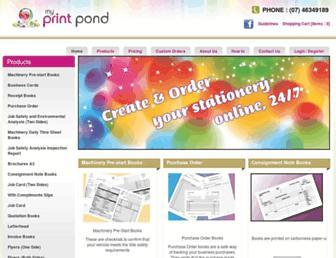 myprintpond.com.au screenshot
