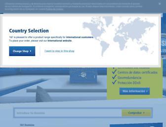 Main page screenshot of 1and1.es