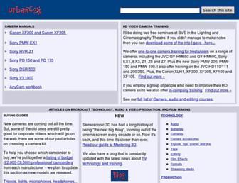 Main page screenshot of urbanfox.tv