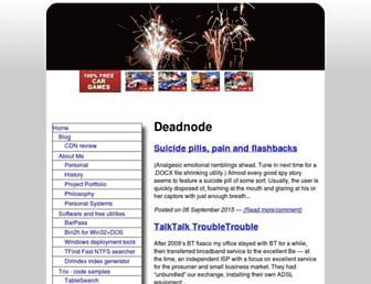 Main page screenshot of deadnode.org