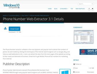 phone-number-web-extractor.windows10compatible.com screenshot