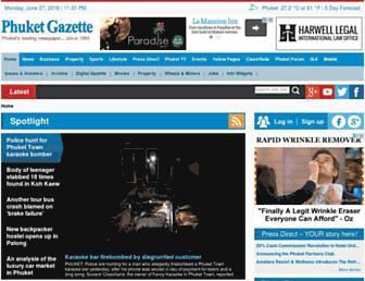 Main page screenshot of phuketgazette.net