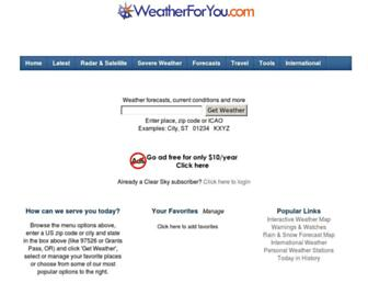 Thumbshot of Weatherforyou.com