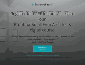 entrearchitect.com screenshot