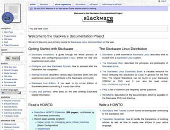 docs.slackware.com screenshot