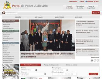 Main page screenshot of tjma.jus.br