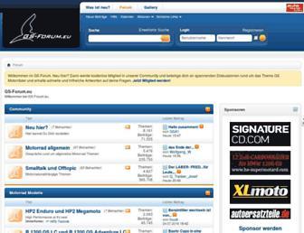 Main page screenshot of gs-forum.eu