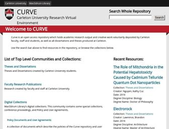 curve.carleton.ca screenshot