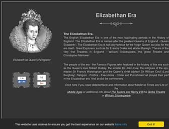 elizabethan-era.org.uk screenshot