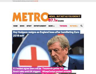 Thumbshot of Metro.co.uk