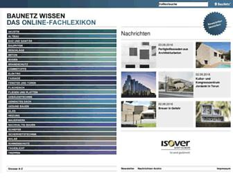 Main page screenshot of baunetzwissen.de