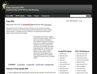 Thumbshot of Freecanadavpn.com