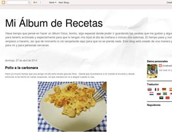 mialbumderecetas.blogspot.com screenshot