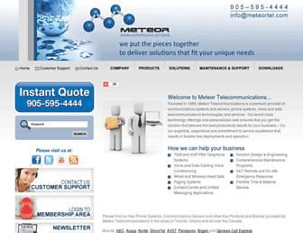 meteortel.com screenshot