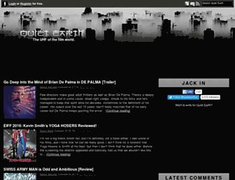 Main page screenshot of quietearth.us