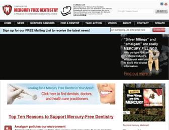 Main page screenshot of toxicteeth.org