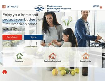 homewarranty.firstam.com screenshot