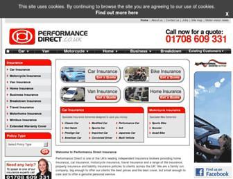 performancedirect.co.uk screenshot