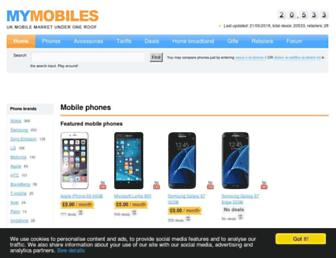 mymobiles.com screenshot