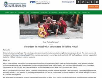 volunteeringnepal.org screenshot