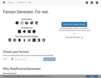 realfavicongenerator.net screenshot