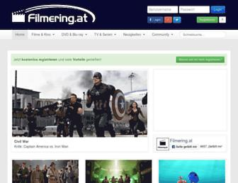 Main page screenshot of filmering.at