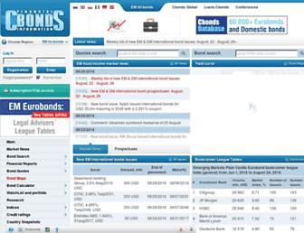 em.cbonds.com screenshot