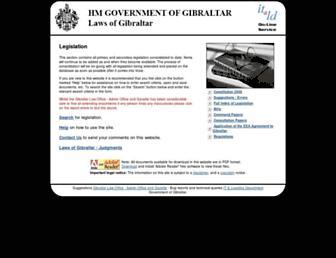 gibraltarlaws.gov.gi screenshot