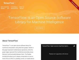 tensorflow.org screenshot