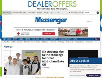 Main page screenshot of messengernewspapers.co.uk
