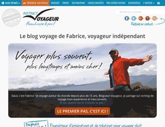 instinct-voyageur.fr screenshot