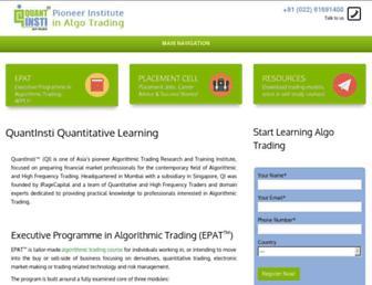 quantinsti.com screenshot