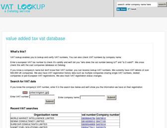 vat-lookup.co.uk screenshot