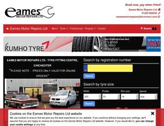 chichester-tyres.co.uk screenshot