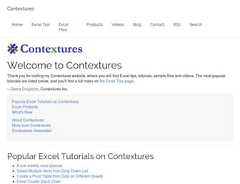 contextures.com screenshot