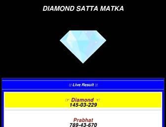 diamondsattamatka.com screenshot